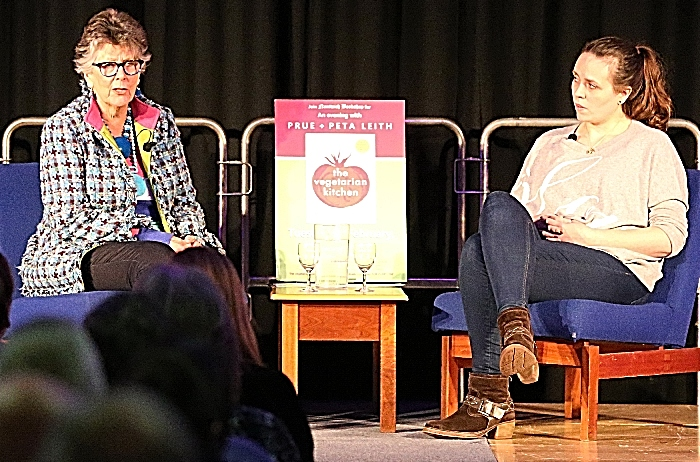l-r Prue Leith and Peta Leith on stage at the event (1) (1)