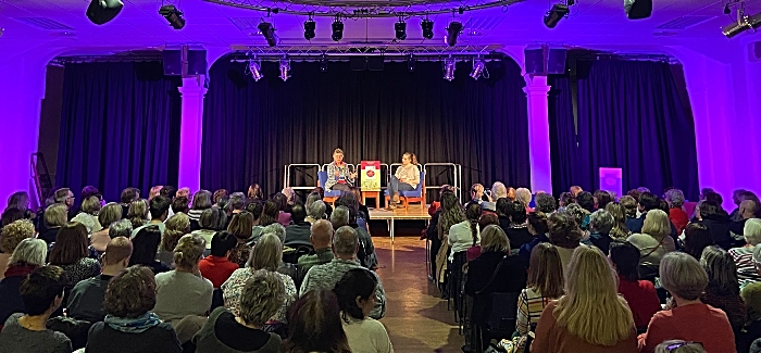 l-r Prue Leith and Peta Leith on stage at the event (2) (1)