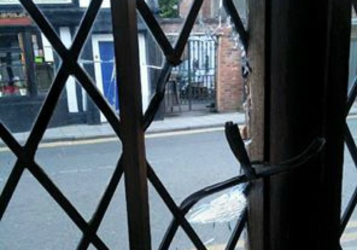 leaded-window-smashed-in-attack-at-the-cat-in-nantwich