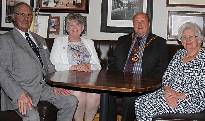 left to rt. Herbert Rowsell, Belinda Marren, Mayor Cllr David Marren, Jane Rowsell (1)
