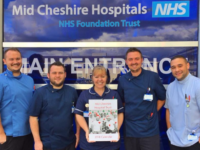 Leighton Hospital cardiac staff launch 2018 charity calendar