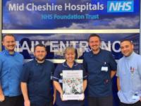 Leighton Hospital cardiac staff launch 2018 charity calendar