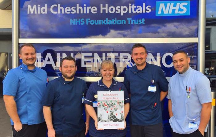 leighton hospital cardiac ward charity calendar