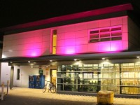 Leighton Hospital cancer unit turns purple in November