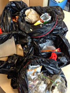 litter collected by pear tree pupils