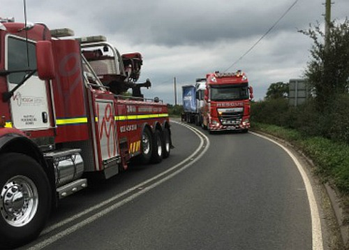 lorry accident A534 Faddiley