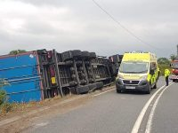 Overturned lorry closes busy A534 near Nantwich