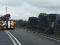 Lorry crash leaves driver in hospital and blocks A534 near Nantwich