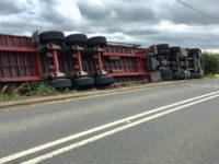 Lorry tips over in third accident on A534 at Faddiley in two weeks