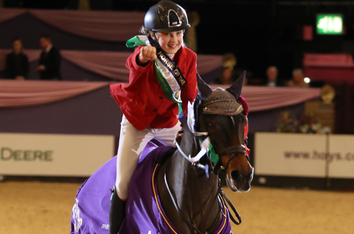 madison heath riding to title win on horse