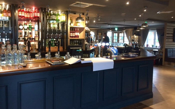 main bar area of new pub Sacred Orchard
