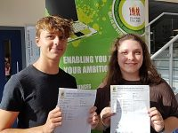 GCSE students at Malbank in Nantwich celebrate on results day
