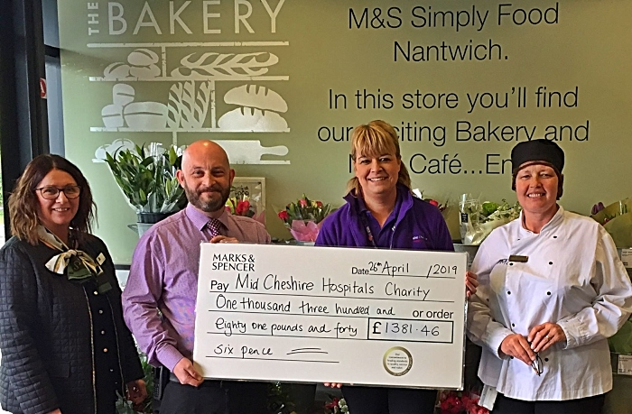 marks and spencer nantwich cheque presentation dementia appeal