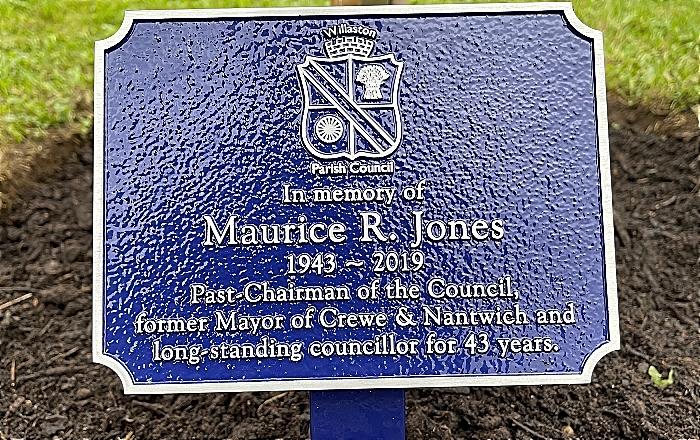 maurice jones plaque