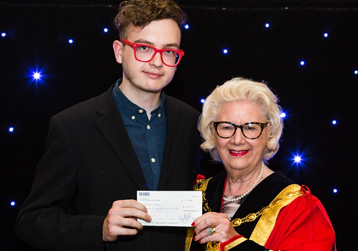 mayor's charity cheque 3