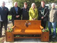 Nantwich Cemetery hosts commemorative bench made by Crewe Men in Sheds