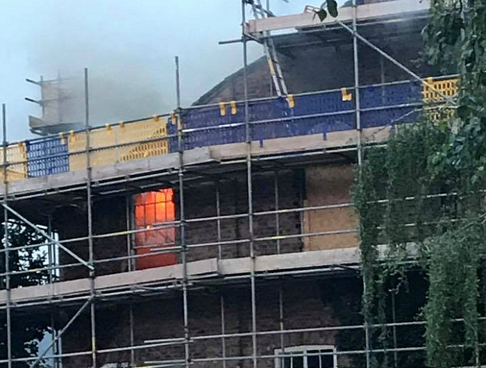 arsonists - methodist church fire in nantwich, by Chloe Ellis