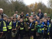 Millfields Primary pupils join Rotary to plant 105 trees at Coed Wen
