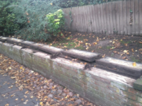 Historic Monks Lane wall damaged in apparent vandal attack