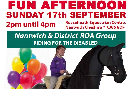 nantwich RDA riding poster
