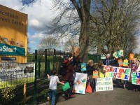 Campaigners protest at Nantwich Children's Centre over closure plan