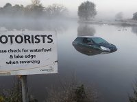 Stunned walkers find car submerged in Nantwich Lake