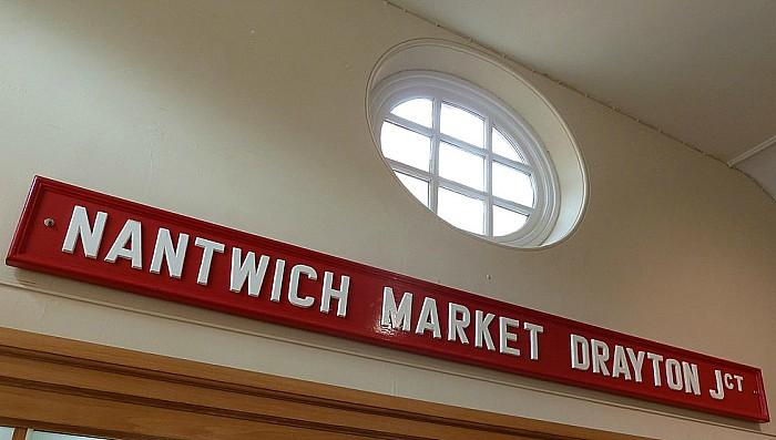 nantwich market drayton rail sign nantwich museum