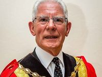 Farewell message as Nantwich Mayor Arthur Moran hands over robes