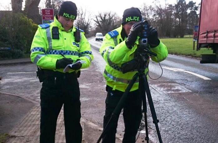 nantwich police speeding checks with camera at Reaseheath
