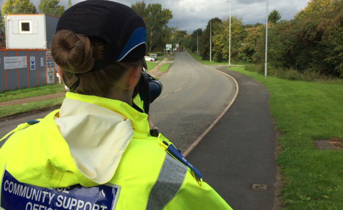 nantwich police tru-cam to catch speeding drivers near nantwich lake