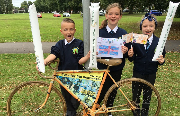 nantwich primary academy on tour of britain route