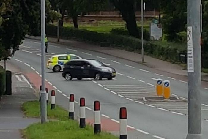 nantwich road HGV car crash - pic by Stuart Boughey