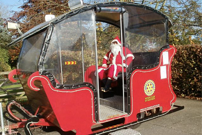 nantwich rotary santa sleigh