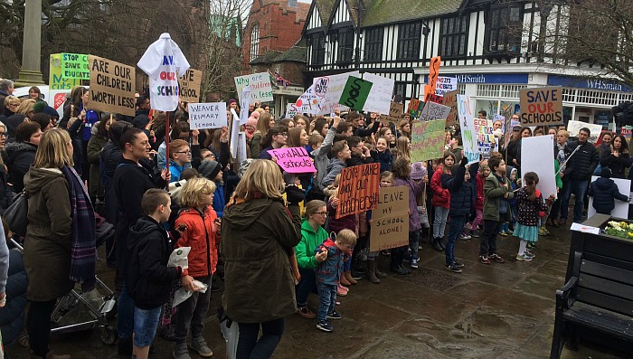 nantwich school protest
