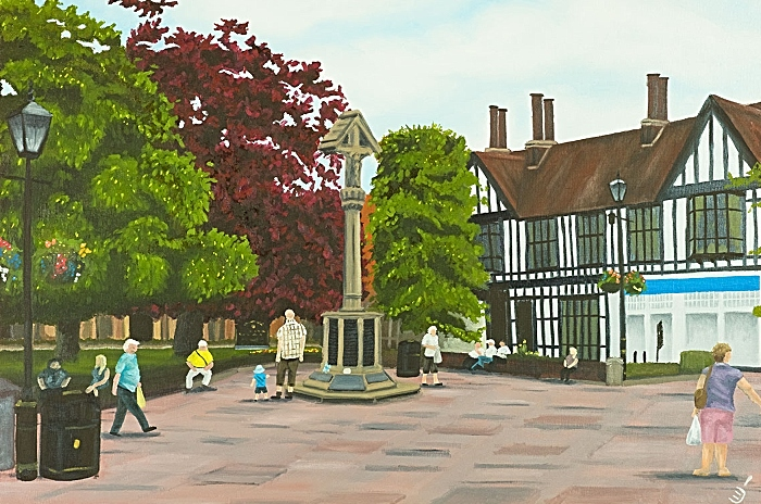 nantwich town square - by Christian Turner exhibition