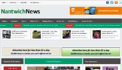 advertising rates - nantwichnews screen grab