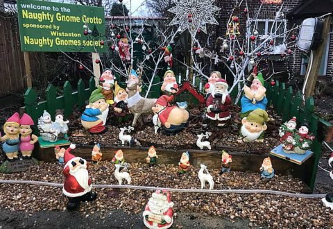 Mooning gnomes in Wistaston make Christmas Grotto comeback
