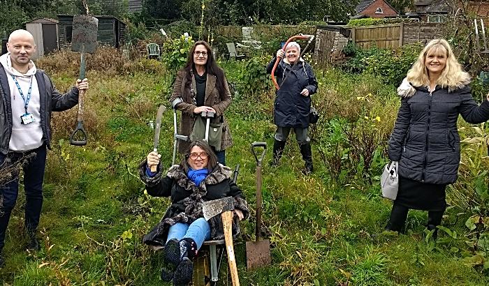 new community garden in Nantwich