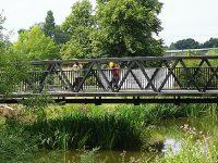 New footbridge being built across River Weaver in Nantwich
