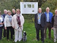 New sign unveiled for Nantwich's Riverside orchard