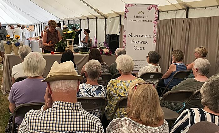 onlookers enjoy flower show at Nantwich Show