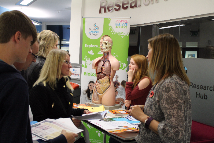 open evening south cheshire college