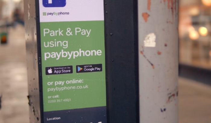 paybyphone parking payment app cheshire east Council