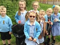 Stapeley school pupils are superhero litter pickers