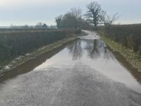 Nantwich lane flooded for months without repairs, say residents