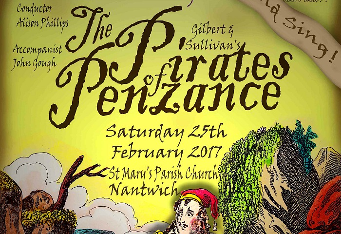 pirates of penzance - Nantwich Singers poster