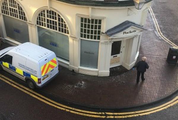 police at Pockets after raid