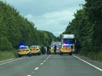 A51 Nantwich Bypass closed off as police arrest three in car