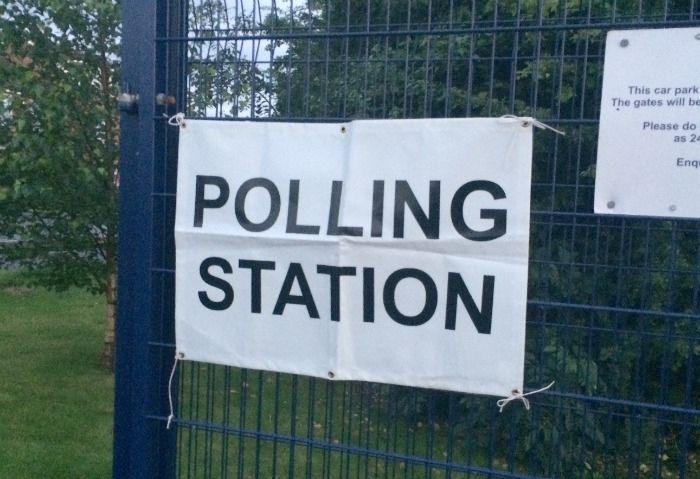 election candidate - polling station, leave campaign wins Brexit vote
