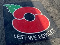 Poppies painted on roads to commemorate Remembrance Sunday